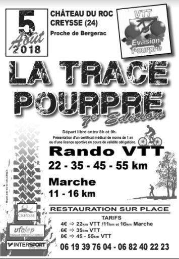 Trace Pourpre 2018 - découverte du 35 km dimanche 22